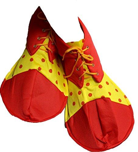 petitebelle rot gelb Polka Dots Soft Jumbo Clown Schuhe Erwachsene Kostüm