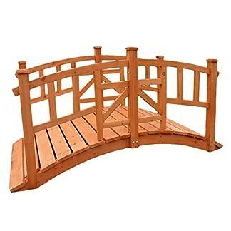 Pisces Vienna Decorative Wooden Garden Bridge for Ponds and Streams KCT 5ft Vienna Wooden Garden Bridge – Pisces 51iuyDLscSL