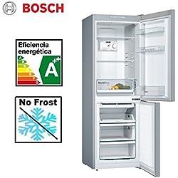 Bosch KGN33NL3A nevera y congelador Independiente Acero inoxidable 279 L A++ - Frigorífico (279 L, Antiescarcha (nevera), SN-T, 11 kg/24h, A++, Acero inoxidable)