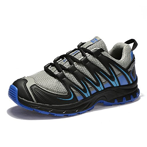 Zapatillas Montaña Hombre Trekking Senderismo Zapatos Running Deportivos Negro Azul Gris EU39-46 grey 44