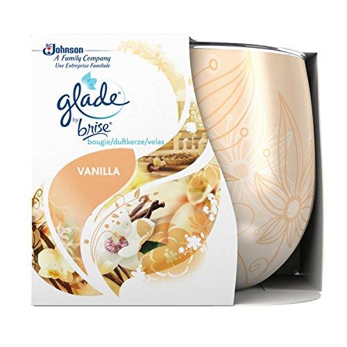 Glade by Brise Duftkerze im Glas, Bis zu 30 Stunden Brenndauer, Blumiger Dankeschön-Duft, 3er Pack...