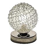Lampenwelt LED Tischlampe 'Ticino' (Modern) in Chrom aus Metall u.a. für Flur & Treppenhaus (1 flammig, G9, A+, inkl. Leuchtmittel) | LED-Tischleuchte, Flurleuchte