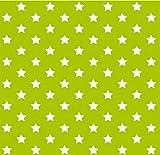 i.stHOME Klebefolie Sterne grün - Stars - Selbstklebende Folie 45 x 200 cm