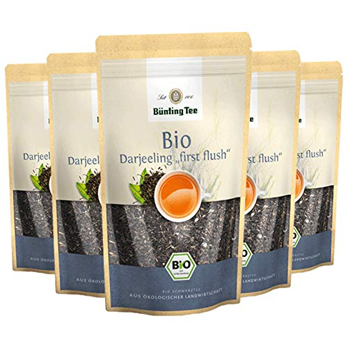 "Bünting Tee Bio Darjeeling""first flush"", 100g loser Tee, 6er Pack"