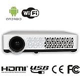 HTP Mini Vidéoprojecteur Projecteur DLP Fonction 3D 400 ISO Lumens 1280 x 800 résolution native, peut soutenir 800p Vidéo Projecteur 3D
