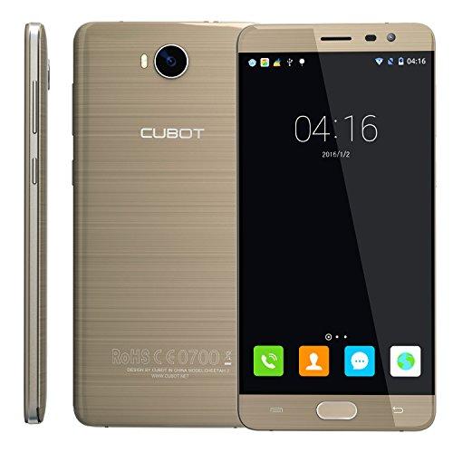 CUBOT Cheetah2 Octa-Core Smartphone Libre 4G 3GB RAM+ 32GB ROM Pantalla 5.5' FHD 1920x1080 Dual SIM, Cámara 13Mp+8Mp Batería 3000mAh Sensor de Huella GPS + Giroscopio Cable Type C Color Oro