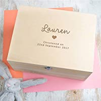 Personalised Baby Girls Christening Gift for Goddaughter - Keepsake Box/Memory Box - (Boys and Girls Designs Available!)