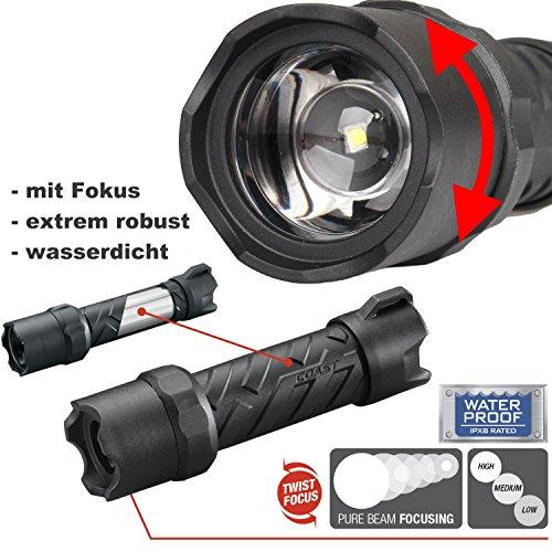 Kraftmax X2020 - Fokussierbare Hochleistungs LED Taschenlampe -