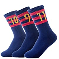 FC Barcelona Soccer/Football Sports Crew Socks 3 Pair-pack