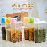 pedgeo (TM) alimentaire en plastique de rangement pour les grilles scellé grains Réservoir de rangement cuisine Tri Boîte de rangement alimentaire conteneur, Taille L