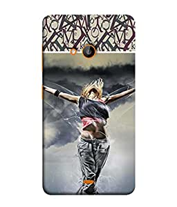 Fuson Designer Back Case Cover for Microsoft Lumia 535 :: Microsoft Lumia 535 Dual SIM :: Nokia Lumia 535 (Flight Sky Imagination Alphabets Pattern)