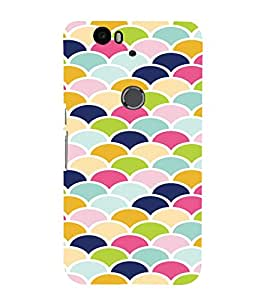 PrintVisa Pastel Colorful Pattern 3D Hard Polycarbonate Designer Back Case Cover for Huawei Google Nexus 6P