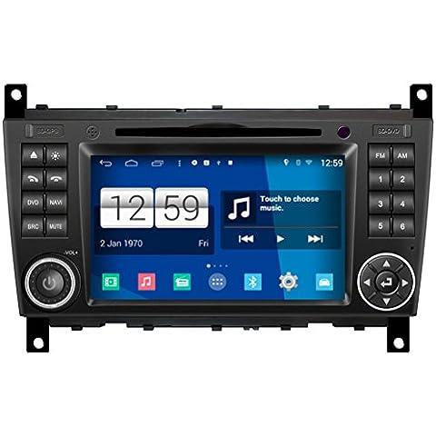Generic 7pollici 2DIN In dash 1024* 600HD capacitivo touch screen Android 4.4.4autoradio per benz W2032004200520062007Auto CAR DVD di navigazione GPS WIFI Bluetooth Radio Video Audio Stereo multimediale USB AUX iPod rubrica RDS Quad Core 16G S160sistema