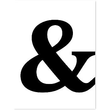 PHOTOLINI Design-Poster 'Und Zeichen' 30x40 cm schwarz