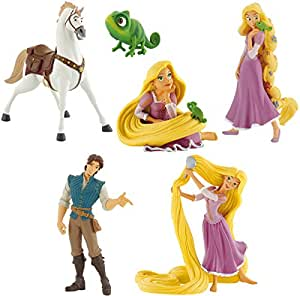 Bullyland disney rapunzel raiponce set 6 figurines flynn rider maximus pascal jeux - Raiponce et flynn rider ...