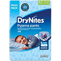 Huggies DryNites hochabsorbierende Pyjama-/Unterhosen, Bettnässen Jungen Jumbo Monatspackung 4-7 Jahre, 64 Stück