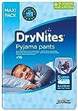 Huggies DryNites hochabsorbierende Pyjama-/ Unterhosen, Bettnässen Jungen Jumbo Monatspackung, 64 Stück (4-7 Jahre) Vergleich