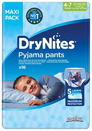 Huggies DryNites hochabsorbierende Pyjama-/Unterhosen, Bettnässen Jungen Jumbo Monatspackung 4-7 Jahre, 64 Stück (Höschen Windel)