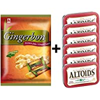 Agel y otros Juego de degustación de atloides, caramelos de jengibre con sabor a menta 125 g (1x125g) + bono de menta Altoids 50 g (6x50g)
