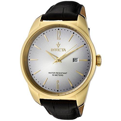 Invicta 11739 Vintage Reloj para Hombre acero inoxidable Cuarzo Esfera blanco