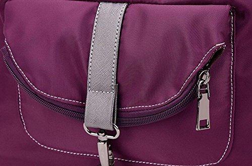 Nylon Tuch Beiläufige Schulterbeutel Multifunktions Beweglicher Kurierbeutelart Und Weisefrauen Rucksack Purple