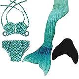 2018 Neu Mädchen Meerjungfrau Schwanz Badeanzug - Prinzessin Cosplay Bademode für Das Schwimmen mit Bikini Set und Monoflosse,3-12 Jahre Alt