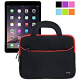 Evecase UltraPortable Handle Carrying Portfolio Sleeve Case Bag for Apple iPad Air 2 (iPad 6) / iPad Air (iPad 5), iPad 4, iPad 3, and iPad 2 - Black