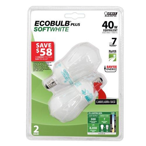 Feit Energiesparlampe Elektrische bpesl7ac/CF 40Watt Äquivalent | galv CFL Glühbirne, n/a 7 wattsW 120 voltsV (Glühbirnen Feit)