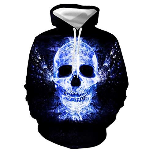 Unisex Pullover 3D Hoodie Kapuzenpullover Beiläufige Kapuzen-Sweatshirt Halloween Top Bluse ◆Elecenty◆ Liebhaber Langarmpullover Lange Ärmel Outwear -