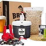 Brew Monkey Compleet IPA bierbrouwpakket | bier brouwen in je eigen keuken | bierbrouw starterspakket | bier brouw pakket met verse ingrediënten | herbruikbare vergistingsemmer | verschillende tools | origineel cadeau | kerstcadeau