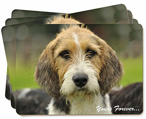 Advanta - Place Mats Welsh Fox -Terrier-Hund \ für Immer Dein.\ Bild Tischsets in Geschenkbox Wei -