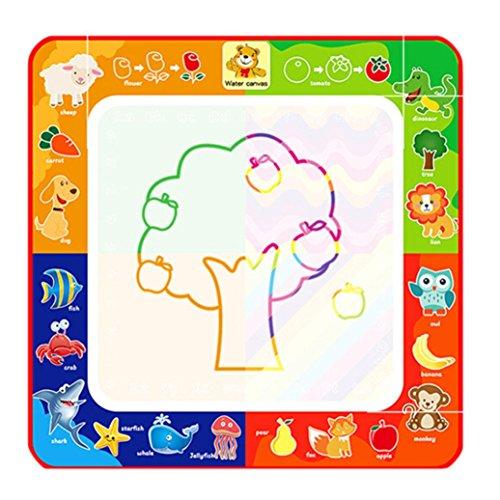Sonnena Spielzeug, Baby Kinder Wasser Zeichnen Tafel Toy Aqua Magisches Graffiti Zeichnung Drawing Painting Spielzeug Pädagogisches Geschenk für Toddler (29 * 29cm)