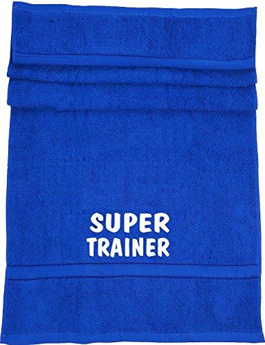 Super Trainer; Sport Badetuch, blau (Blau Trainer)