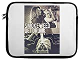 Smoke Weed Get Drunk Wasted Youth High Laptop Case 13
