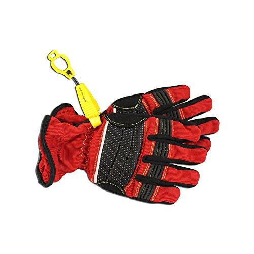 tee-uu CLIP Handschuhhalter 14 x 2,5 cm verschiedene Farben, Farben:Gelb