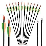 Huntingdoor 12x28 'Frecce in vetroresina con frecce in vetroresina Frecce da 7 mm per arco ricurvo
