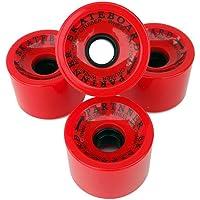 Set 4ruote Longboard in rosso 70x 50mm 80A in PU - Longboard Rotolo