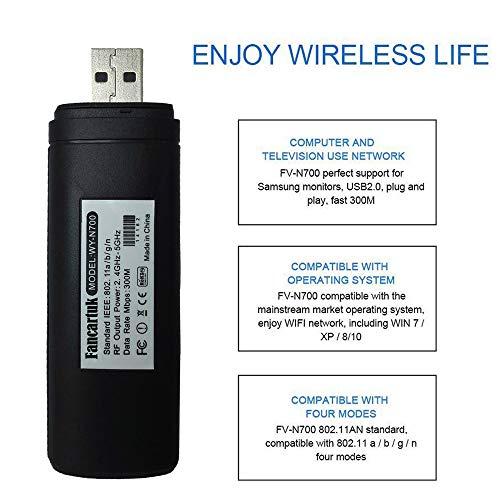 51ivAwMrkAL - Adaptador Wi-Fi inalámbrico USB para televisión, Fancartuk 802.11ac de doble banda 2,4 GHz y 5 GHz, adaptador USB de red WiFi inalámbrico para smart TV Samsung WIS12ABGNX WIS09ABGN 300M