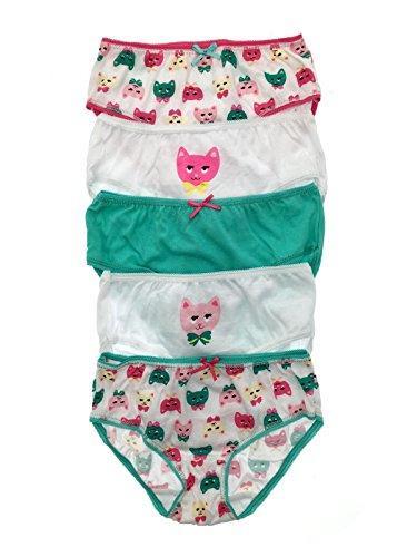 Lora Dora Girls 5 Pack Pairs Briefs Set Knickers Kids Multipack 100% Cotton Underwear Size UK 2-8 Years