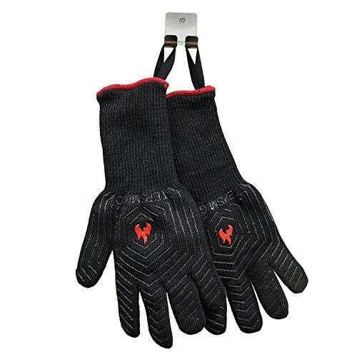 51ivBIvGWcL - Feuerhandschuhe,Grillhandschuhe Feuerfest,Ofenhandschuhe,Grillhandschuhe Hitzebeständig,Grillzubehör Handschuhe mit Einer Grillschürze
