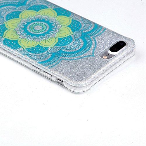 Coque iPhone 7 Plus Silicone, Sunroyal® Semi-Transparent Hybrid Etui Housse de Protection pour iPhone 7 Plus TPU Gel Souple Clair Crystal Case Cover avec Absorption de Choc Bumper et Anti-Scratch Bump Pattern 01