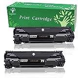 GREENSKY 2 Pack Toner compatible pour HP CF283A 83A Cartouche de toner à rendement élevé adaptée pour HP Laserjet Pro MFP M125a M125nw M125rnw M126a M126nw M127fn M127fp M127fw M128fn M128fp M128fw M201dw M201n M202dw M202n M225dn M225dw, 1500 Pages -2 Noir