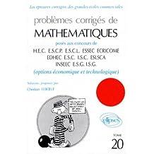 Mathématiques HEC 1997, tome 20 : Option économique et technologique