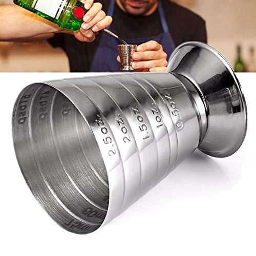 DKEyinx 75ml Messbecher, Edelstahl, Bar Mix Cocktail Weingetränk Shaker Werkzeug Silver - Mix-cocktail-bar