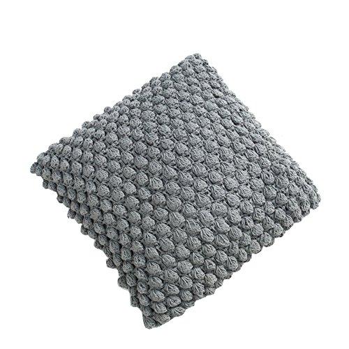Design Strick Kissen grau 45cm Zierkissen in Handarbeit gestrickt Strick Kissen Dekokissen Dekoration Wohnaccessoire Accessoire (Sitzbank Baum Kissen)