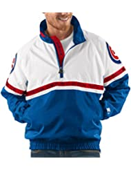 "Chicago Cubs MLB Starter ""Academy"" 1/2 Zip Pullover Embroidered Jacket Veste"