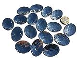 18 Stück 40mm x 30mm große ovale glitzernde transparent Acryl Steinchen Mosaik durchsichtig klar Mischung Deko Strass Steine zum Bekleben Strasssteine eckige Acrylsteine Opaleffekt Regenbogeneffekt Laser Optik Regenbogensteine transparent klar kristall basteln Gltzersteine Schmucksteine Strass Steine zum Verzieren Dekorieren von CRYSTAL KING