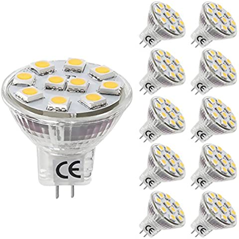LE Bombillas GU4.0 LED 1.8W / 20W Halógena Blanco frío MR11 Pack de 10