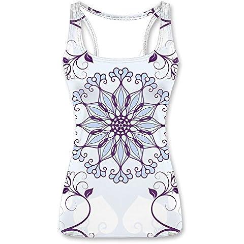 Women's Tank tops Shirts Vest Top - Rudder - Cute Flower pattern
