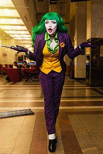 Joker Damen-Kostüm von MIMIKRY Jacket Weste Hose Bluse Batman Gotham, Größe: L (Lila Hose Kostüme)
